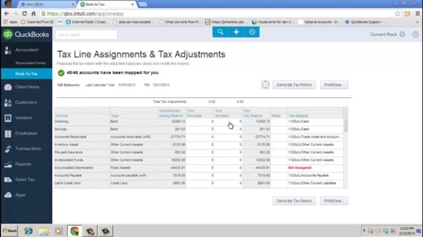 How Book-To-Tax Works in QuickBooks Online Accountant on