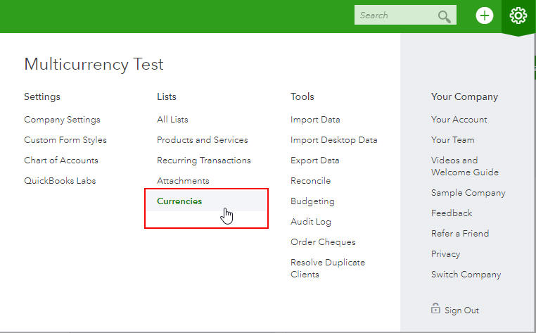 New Multicurrency Features in QuickBooks Online