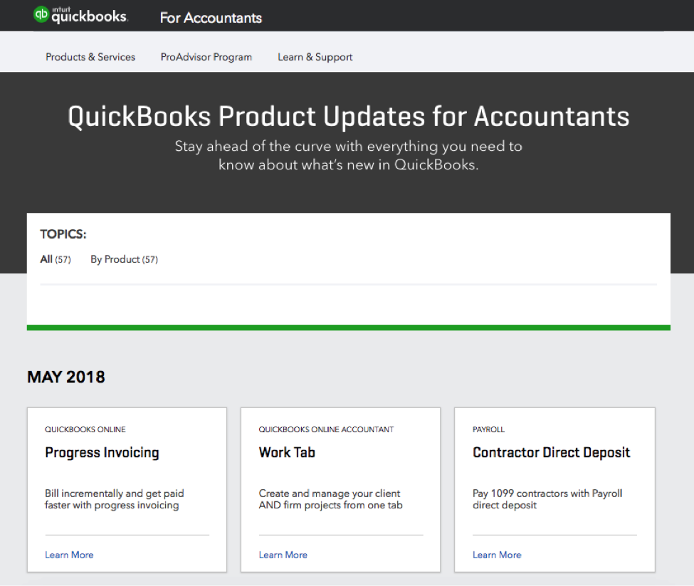 QuickBooks Online New Features and Improvements - June 2018