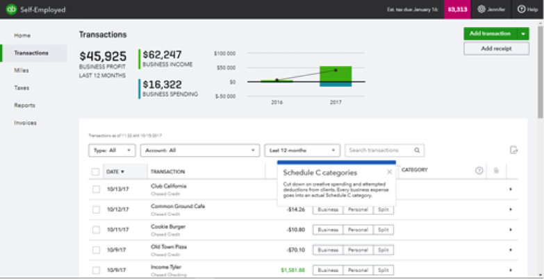 All Your Work, All in One Place: QuickBooks Self-Employed