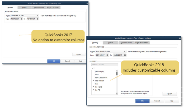 New and Improved Features in QuickBooks Desktop 2018