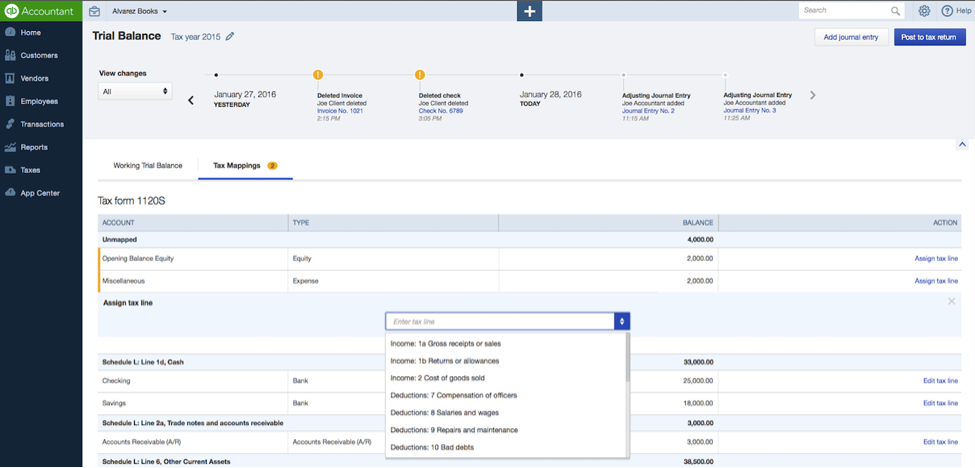 Trial Balance Available in QuickBooks Online Accountant