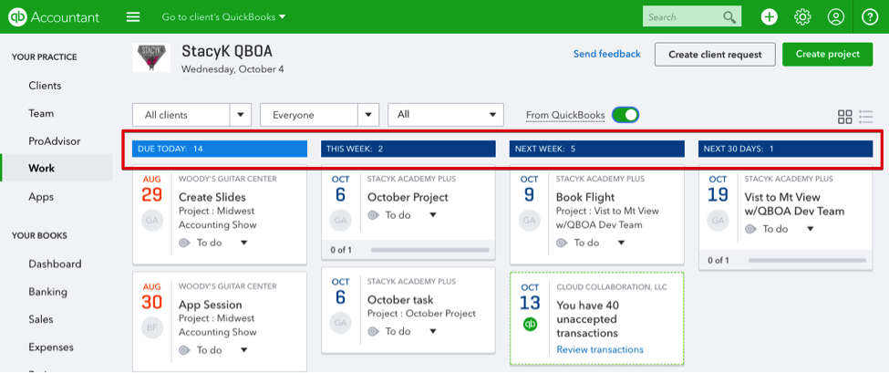 All Your Work, All in One Place: Work Tab in QuickBooks