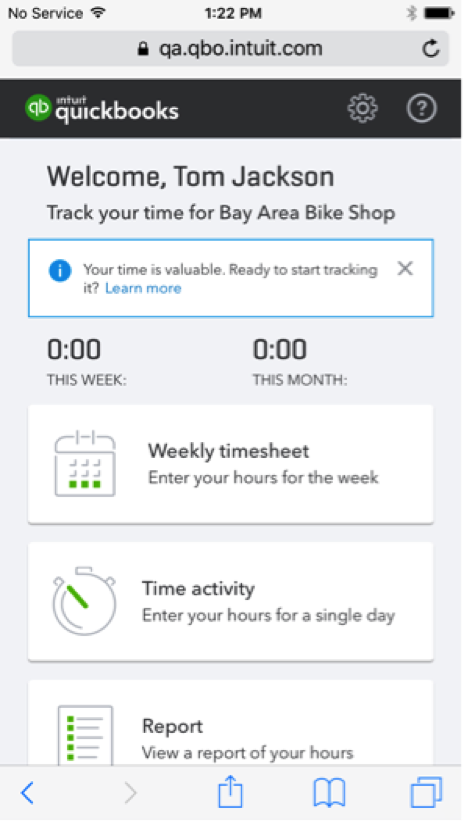 QuickBooks Online Feature Update: New Look for Time Tracking