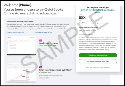 Update on the QuickBooks Online Advanced free upgrade period - Firm