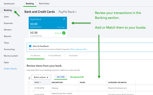 Easily import PayPal transactions with Connect to PayPal