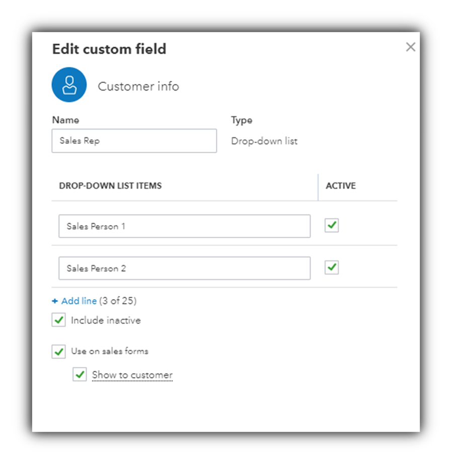 Custom fields in QuickBooks Online Advanced - Firm of the Future