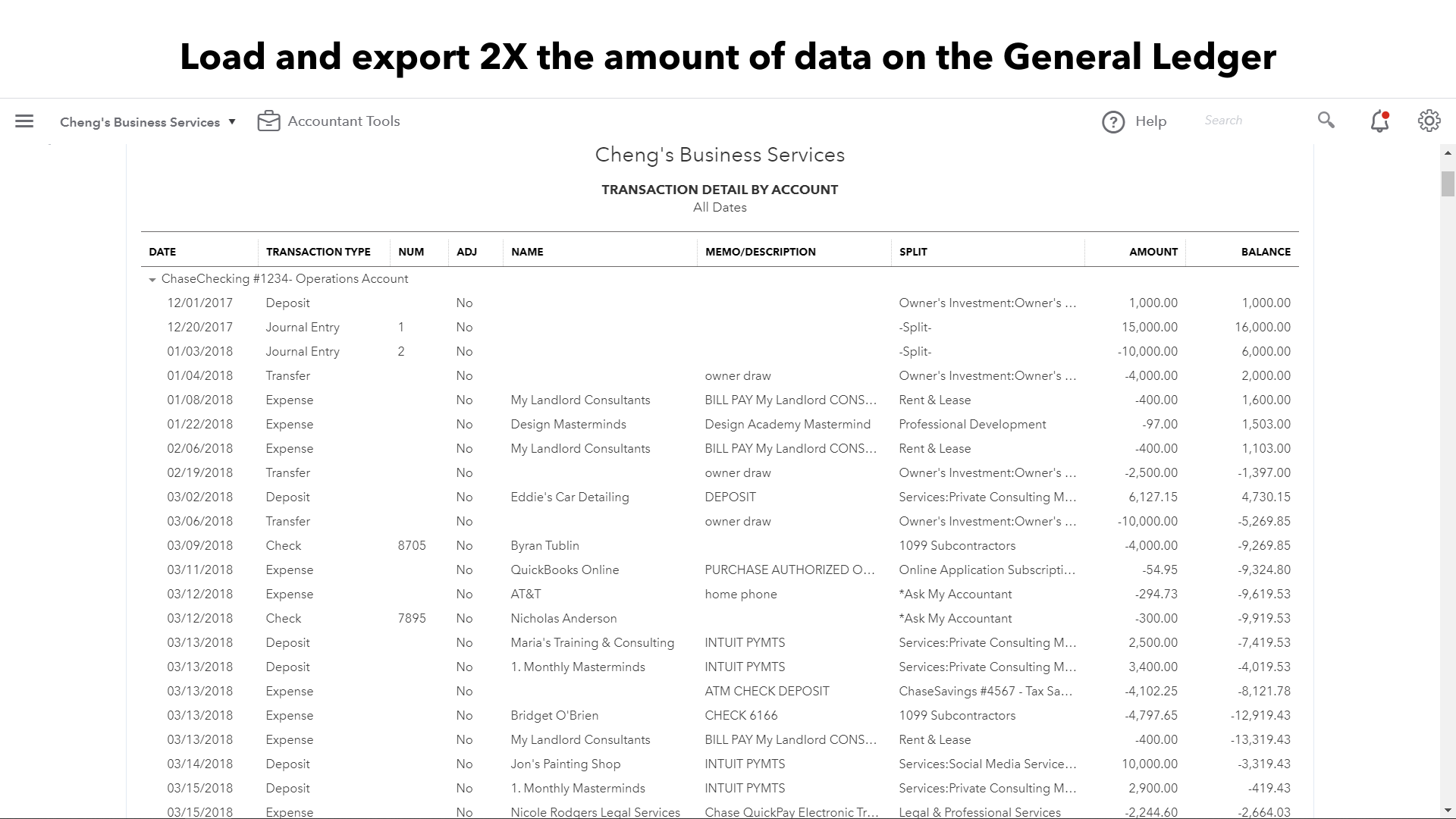 Reporting article image 1 Load and export 2X the amount of data on detail reports